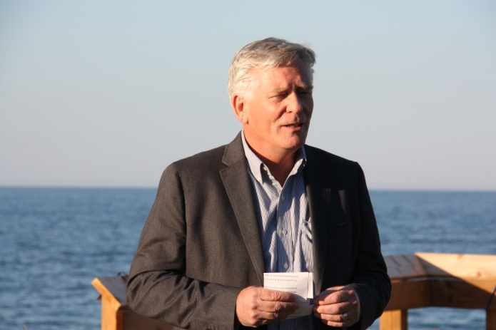 Speaker at the Unveiling the migratory bird lookout platform ceremony